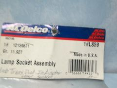 LS59 AC DELCO LAMP SOCKET ASSEMBLY NEW