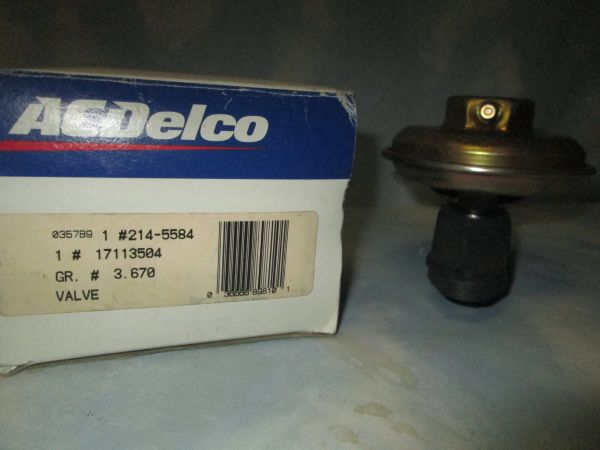 214-5584 AC DELCO GM EGR VALVE NEW