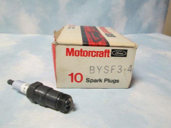 BYSF3-4 MOTORCRAFT SPARK PLUGS SET OF 10