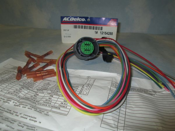 12154288 AC DELCO GM SHIFT LOCK CONNECTOR 4L80E SUV HARNESS ASSEMBLY NEW