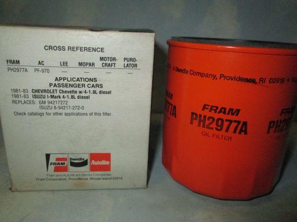 PH2977A FRAM OIL FILTER NEW