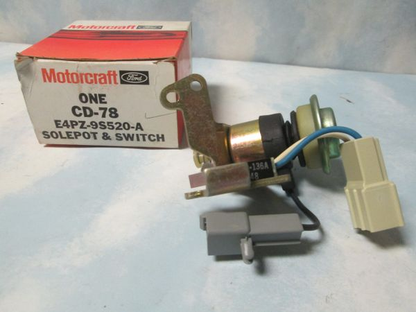CD-78 MOTORCRAFT SOLEPOT & SWITCH NEW