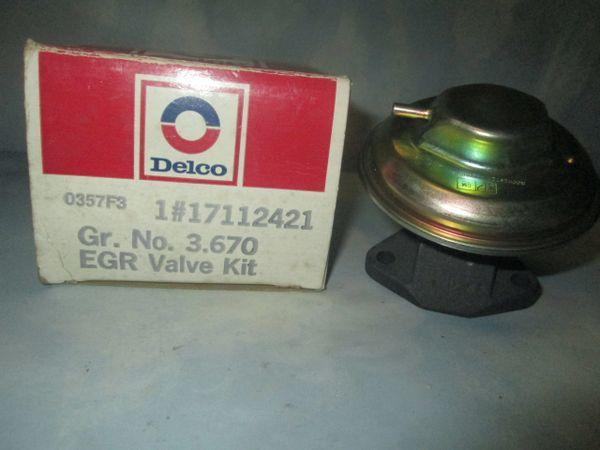 17112421 AC DELCO GM PONTIAC EGR VALVE NEW