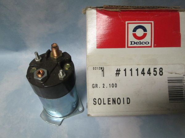 1114458 AC DELCO GM STARTER SOLENOID /D981 NEW