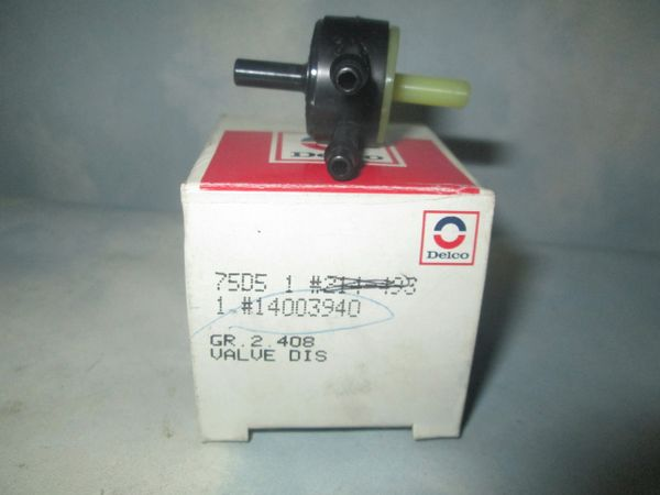 14003940 AC DELCO GM TRUCK VACUUM PUMP BY PASS CHECK VALVE