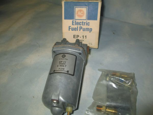 EP-11 AC DELCO GM 6 VOLT VINTAGE ELECTRIC FUEL PUMP NOS