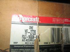YF-2728 AC ACCUMULATOR COMPRESSOR 4.6L MOTORCRAFT LINCOLN FORD MERCURY T-BIRD