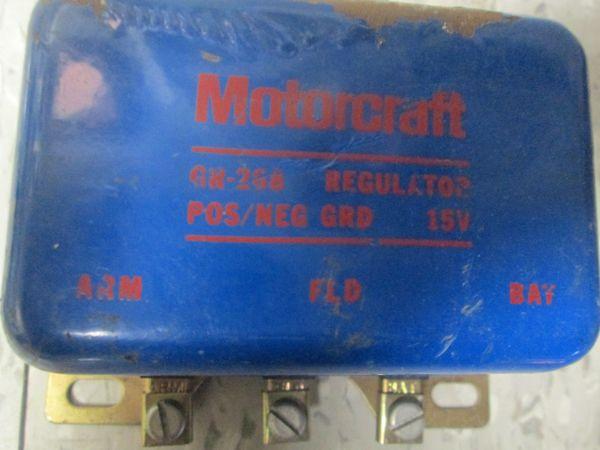 GR-268 MOTORCRAFT 1965 VOLTAGE REGULATOR 6.4L 4.7L V8 FORD COUNTRY SEDAN FALCON LTD MUSTANG NOS