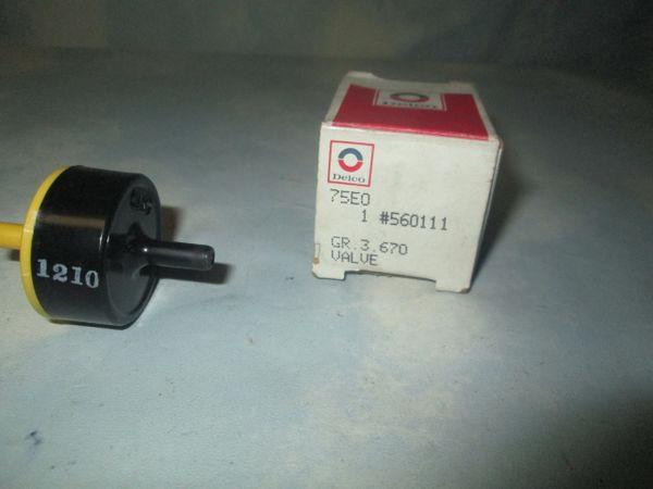 560111 AC DELCO EGR VALVE ASM CONTROL NEW