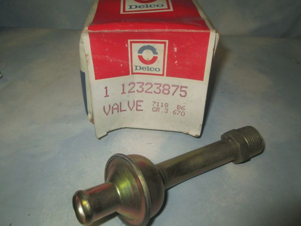 12323875 AC DELCO FORD MERCURY MONTERAY AIR PUMP CHECK VALVE NOS
