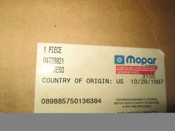 04728921 MOPAR COMPRESSOR NOS New Old Stock R12 Air Conditioning Compressor with Clutch. 1981-1984 Chrysler Dodge Plymouth