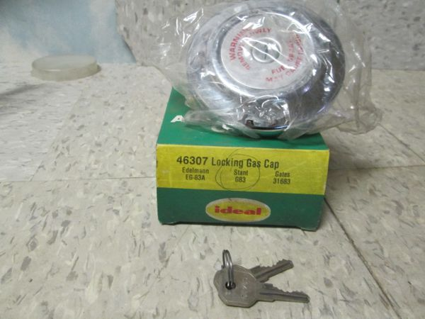 46307 IDEL LOCKING GAS CAP CHEVY FORD HUDSON NOS G83 STANT