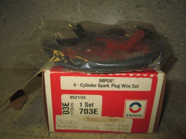 703E AC DELCO IMPORT 4CYL SUSUKI 89-94 SPARK PLUG WIRES NEW