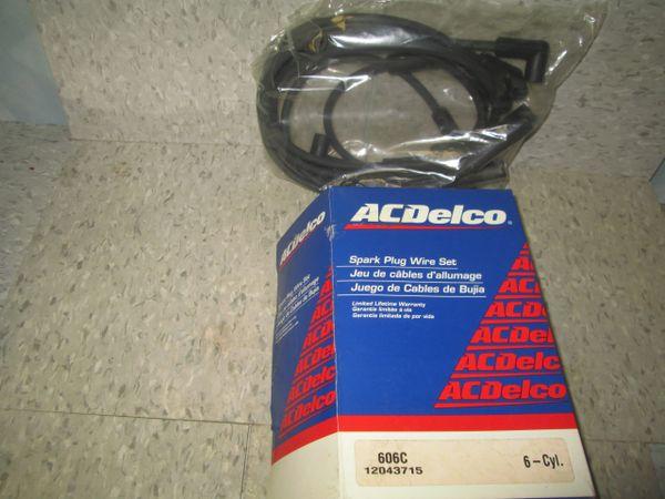 606C AC DELCO IGNITION V6 80-81 Set USA Buick Skylark Chevy Citation Omega Phoenix SPARK WIRE SET NEW