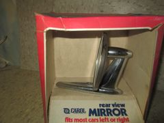 815S CAROL MODEL CHROME METAL REAR VIEW MIRROR SIDE VINTAGE CHROME N0S