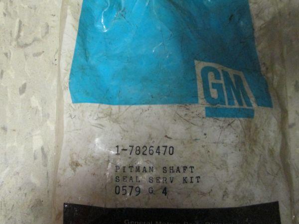 7826470 GM GENUINE 77-92 PITMAN SHAFT SEAL SERV KIT NOS BUICK; CADILLAC; CHEVROLET; CHEVROLET TRUCKS; GMC TRUCKS; OLDSMOBILE; PONTIAC