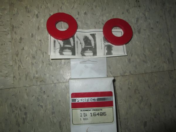 16406 PERFECT RADIUS ARM SHIM 2WD 4WD NOS SET OF 2 FORD DODGE 70-85 FORD 66-86
