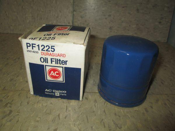 PF1225 AC DELCO ENGINE OIL FILTER DURAGUARD NEW