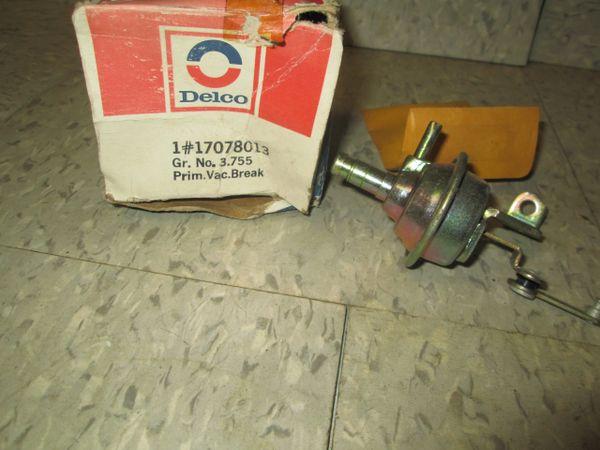 17078013 DELCO VACUUM BREAKER CHOKE PULL OFF NEW