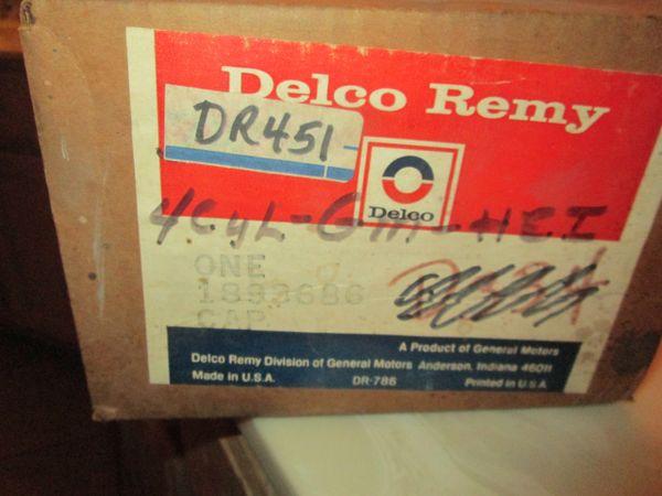DR451 CAP NOS DISTRIBUTOR CAP PARTS MASTER 77-81 GM VEGA AMC ASPIRE