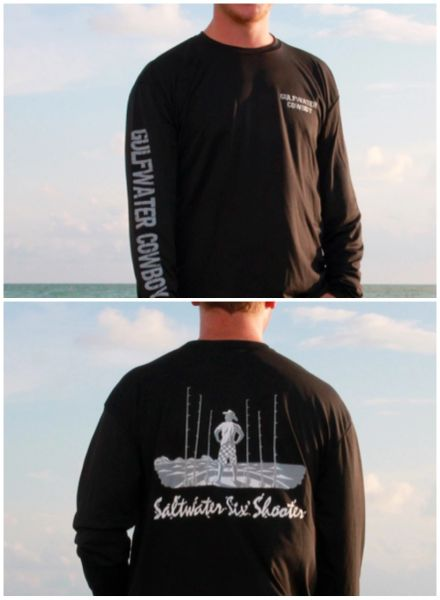 GWC Black Saltwater Six Shooter Long Sleeve Dry Fit
