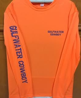GWC Cowboy Classic Logo Dri Fit Safety Orange Long Sleeve