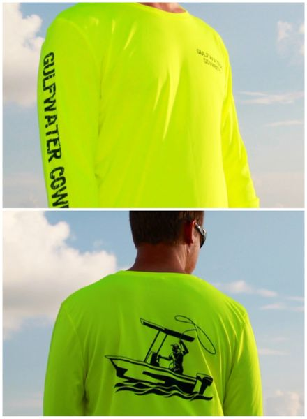 GWC Safety Yellow Classic Logo Dri Fit Long Sleeve