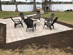 "<img src=""bricks.jpg"" alt=""grey brick pavers with fire pit and chairs"">"