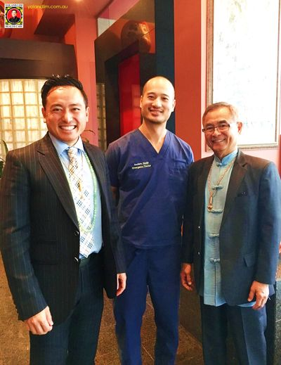 (L-R) Dr Justin Lim, Dr Hen Kuang Hong (Emergency Department Physician) and Professor Yoland Lim.