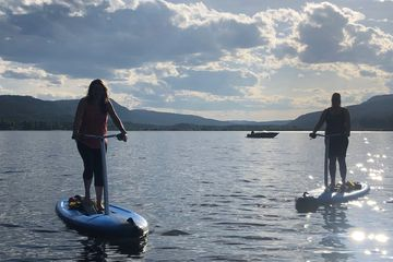 Stand up paddle board rentals on Canim Lake BC at South Point Resort