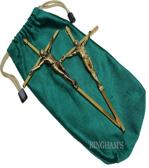 Velveteen Crucifix Bag