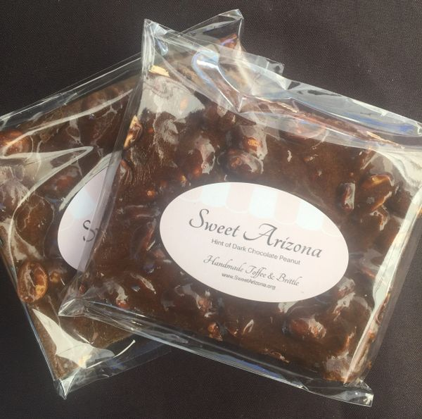 Dark Chocolate Peanut Brittle 3 oz