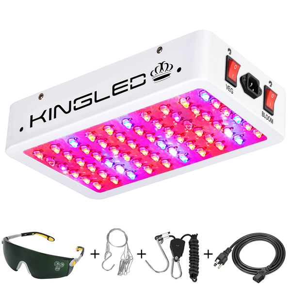 King Plus 1000w LED Grow Light Double Chips Full Spectrum with UV and IR  for Greenhouse Indoor Plant Veg and Flower