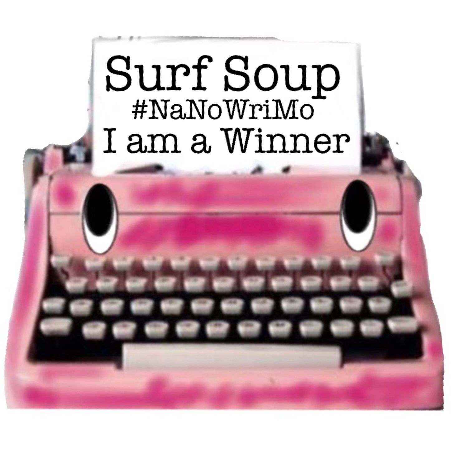 Typo, typewriter, pink, type, boo boo, help, character, Namowrimo, winner, typing, misspell, mistake