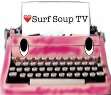 Pink typewriter, typo, cartoon, character, animation, type, surf Soup tv, paper, write, book, script