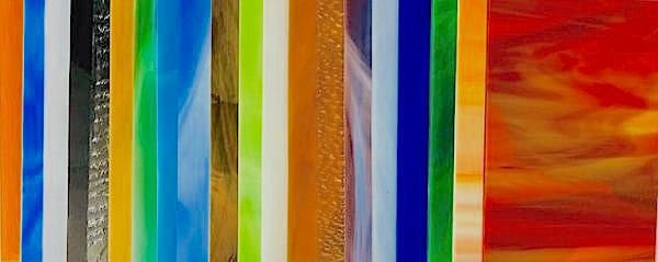 Stained Glass Sheets CLEAR Variety Stained Glass Pack 4 Sheets
