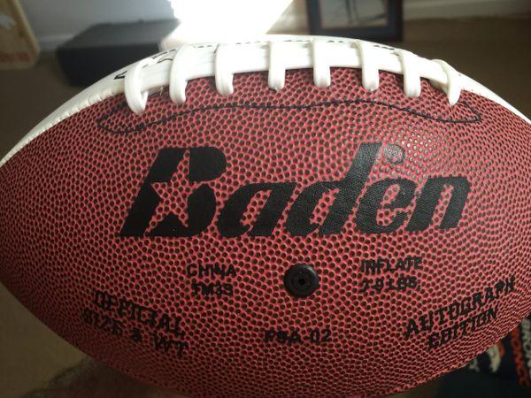 Regulation Size Lazer Etched Football