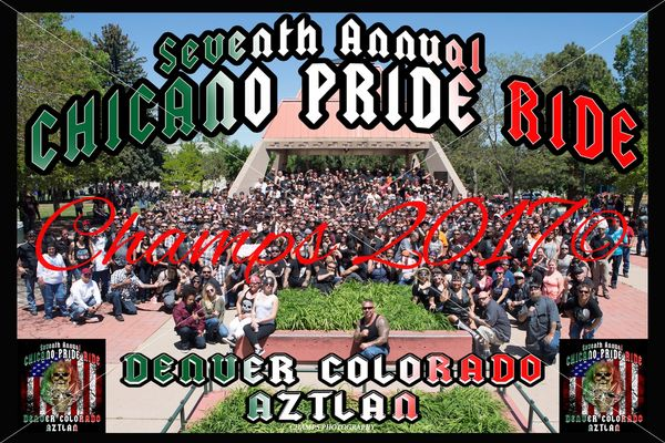 "Chicano Pride Ride 2017 8""x12"""