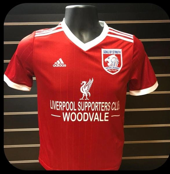 "SoS red away top ""Liverpool Supporters Club"""