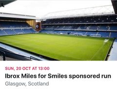 Miles for Smiles sponsored run at Ibrox