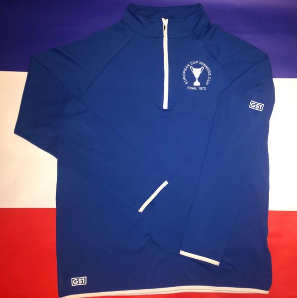 The 1972 ECWC Final 1/2 Zip Mid Layer Top Royal Blue