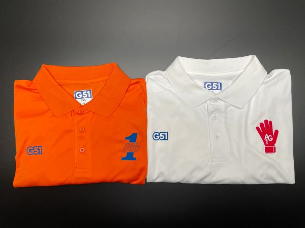 Andy Goram AG1 Sports Polo. Choice of colour and logo