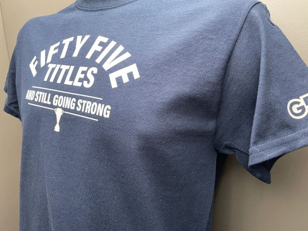 """College Style """"Fifty Five Titles"""" Navy T-Shirt"""
