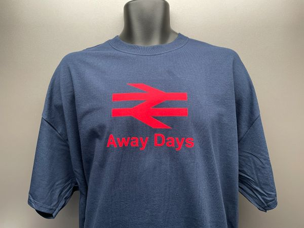 """The """"Away Days"""" Logo T-shirt Navy. Personalised to suit"""