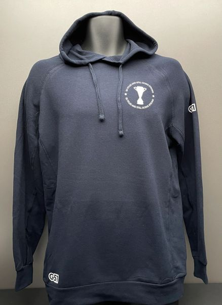 """Still going strong"" Sports Hoodie Navy"