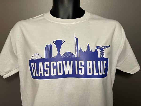 """Glasgow is Blue"" T-shirt White"