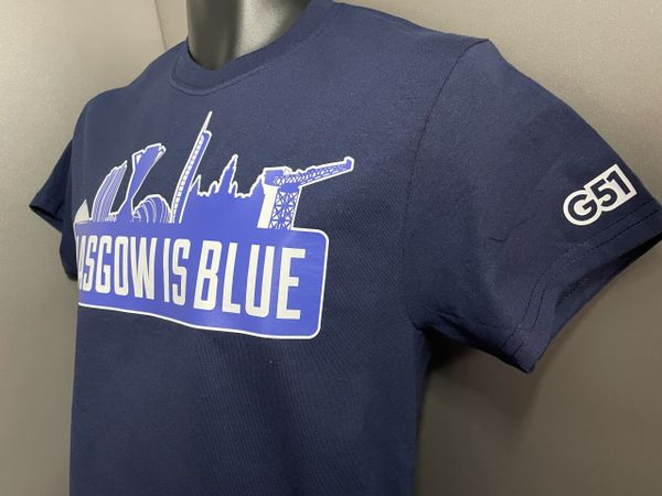 """Glasgow is Blue"" T-shirt Navy"