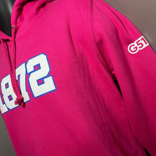 """""""1872"""" Ladies Hoodie Pink"""
