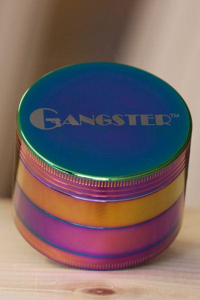 GGR10 - 4pcs Zinc Grinder. Rainbow Color, 58mm Diameter