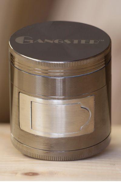 GGR11 - 4pcs Zinc Grinder. With Side Dispenser Door, 63mm Diameter